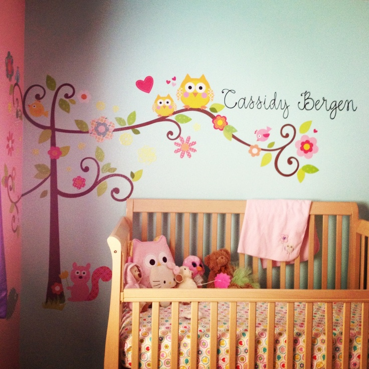 Cute Baby Girl Nursery Ideas: Cute Paint Colors For Girl Bedrooms Theme Owl