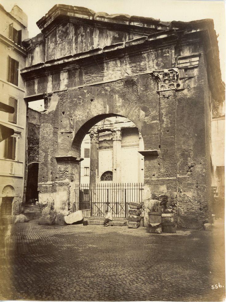Portico d'Ottavia Circa 1875