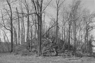 Large Nephilim burial mound located along the Ohio River in Brown County, Ohio.