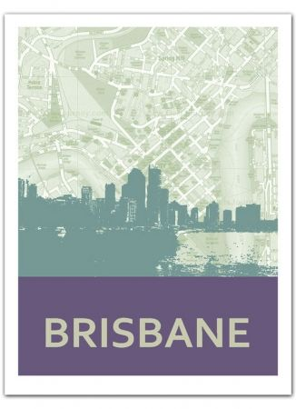 Hard to find: Brisbane Skyline Print form Mokoh Design. All cities available. Great for down a corridor