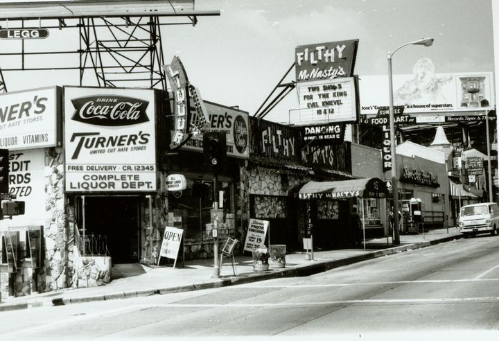 WEST HOLLYWOOD, CALIF: Sunset Strip mid-1960's. Gil Turners is still there about a block away from my old haunt, The Rainbow Bar & Grill --B.N.