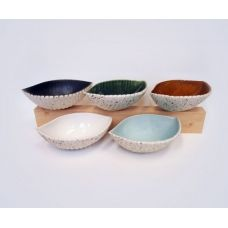 Large Ceramic Seed Pod Dish - Natural, Black, Green or Aqua