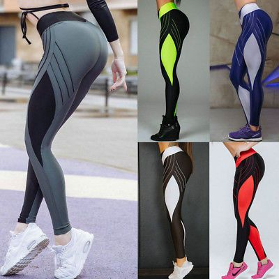 4f94020003 Womens Exercise Leggings Yoga Gym Running Sport Training Slim Fit Pants  Trousers