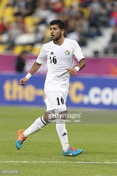 Ahmad Hisham Abdel Mon'em Mohammad of Jordan during the AFC U23 Championship quarter final match between South Korea v Jordan at the Suhaim Bin Hamad...
