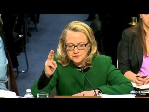 """Hillary Clinton's testimony on Benghazi-  """"What difference does it make"""" why they were attacked? - But then she left those American's behind to be killed and never sent in help-  Her job was to know what was happening."""