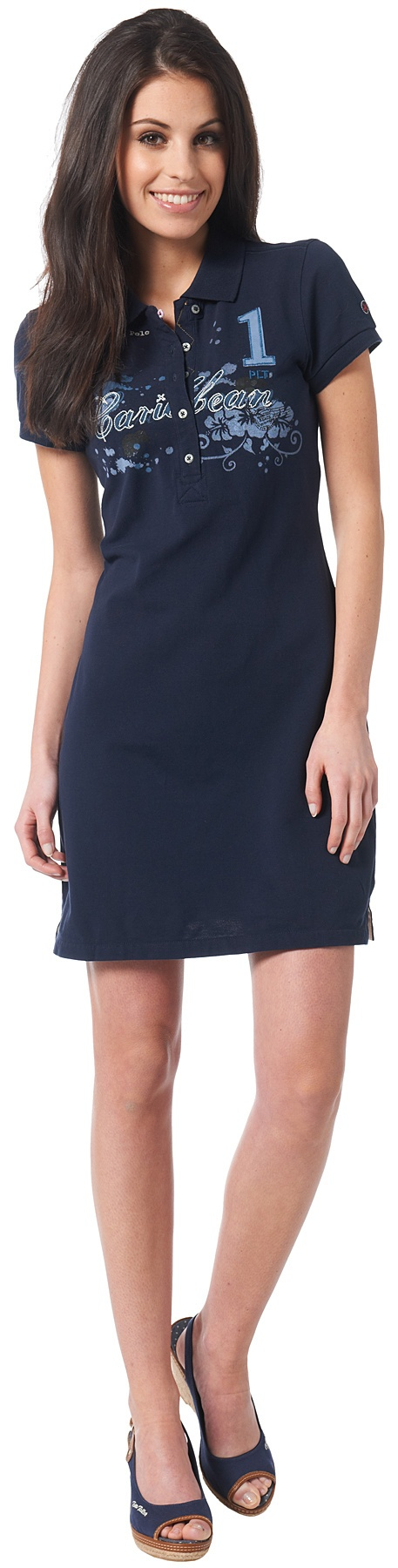 sportives Polo-Kleid für Frauen (unifarben)  - TOM TAILOR