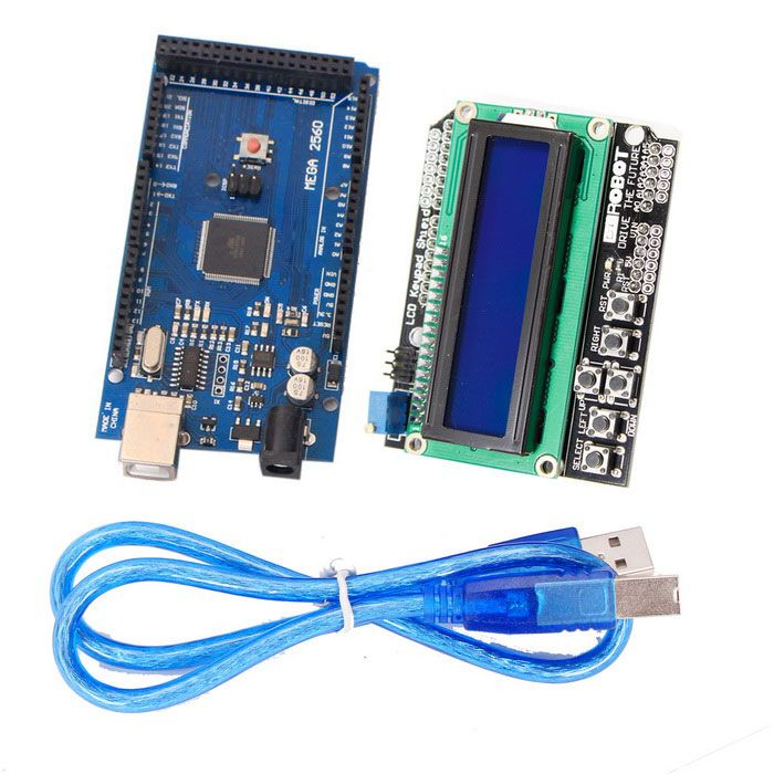 Improved Version Mega2560 Development Board + 1602 LCD Keypad Shield for Arduino. Find the cool gadgets at a incredibly low price with worldwide free shipping here. Improved Version Mega2560 Development Board + 1602 LCD Keypad Shield, Kits, . Tags: #Electrical #Tools #Arduino #SCM #Supplies #Kits