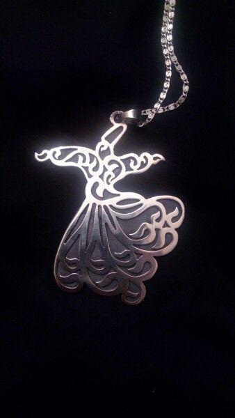 #Sufi #Whriling #Darvish #Turkish #Pendant #silver #belongings