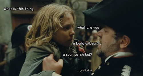 "Javert is just like, ""I don't understand...what is a children?"""