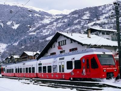 Did you know that for easy access to our village, tourists use the local St. Bernard Express Train which runs from Martigny through to Le Chable!