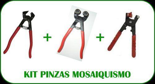 Kit 3 Pinzas Para Mosaiquismo (db09 - Db33 - Db34)