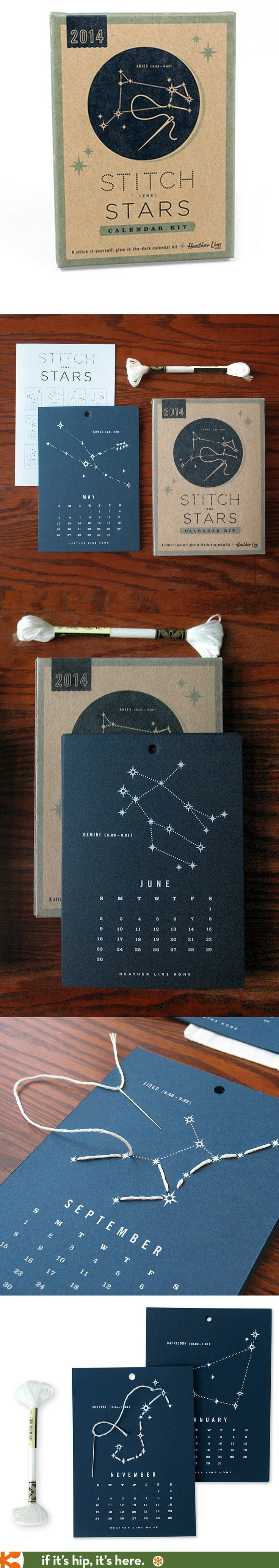 The 2014 Stitch The Stars Calendar KIt is beautifully designed and packaged.