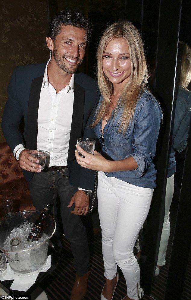 Anna Heinrich with boyfriend Tim Robards..
