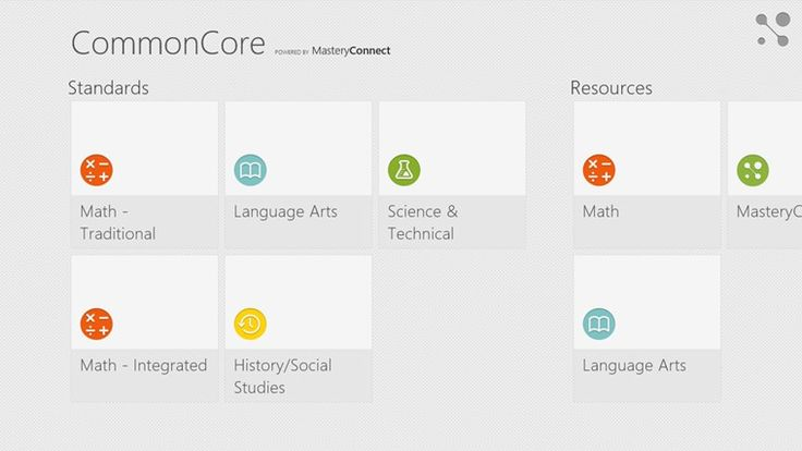 View the Common Core State Standards in one convenient FREE app! A great reference for students, parents, and teachers. Quickly find standards by subject, grade, and subject category (domain/cluster). This app includes Math standards K-12 and Language Arts standards K-12. Math standards include both traditional and integrated pathways (as outlined in Appendix A of the Common Core) and synthesizes Language Arts standards with the Corresponding College and Career Readiness Standards (CCR's).