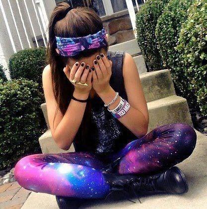 Galaxy leggings... loveee