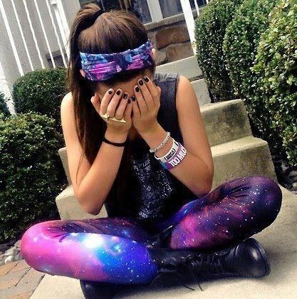 Galaxy leggings... loveee