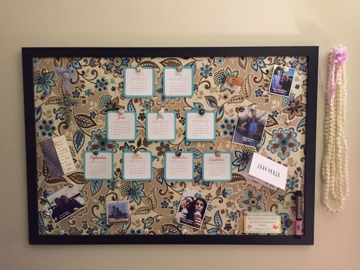 ... board with an inexpensive 24x36 poster frame. Nice finishing touch