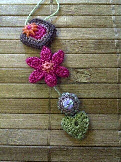 Crochet jewellery made by Lizette
