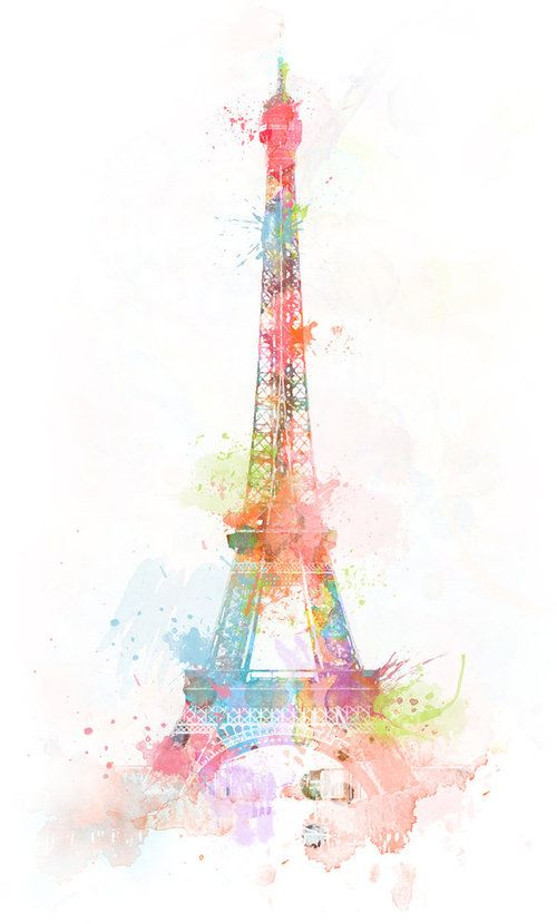There's just something about bright colors paired with black and white that make a Paris theme work.