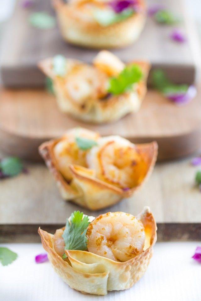 Shrimp Taco Bites via A Zesty Bite #appetizer