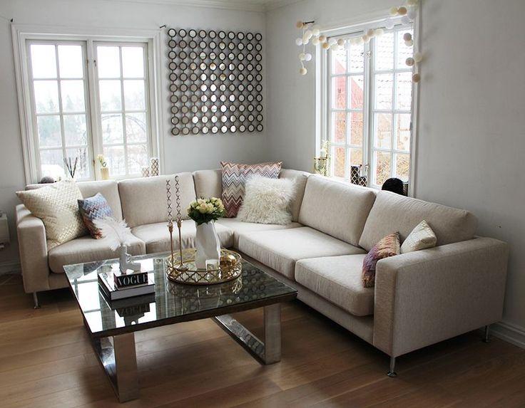 Nettenestea annette haga interiør hjem hus gull stue bord ...