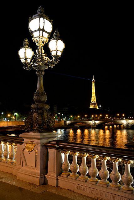 ~♡Eiffel Tower far yonder...♡~   Pont Alexandre III et Tour Eiffel by evideerf2002, via Flickr