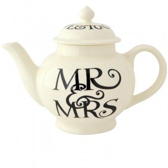 4 Cup Teapot Black Toast Mr & Ms