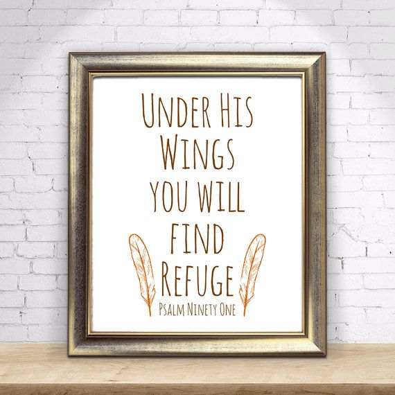 Under His Wings you will find Refuge Bible by LouieandLucyDesigns