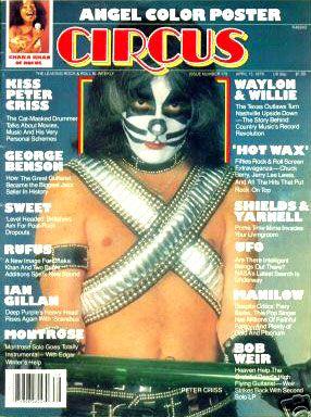 KISS MASK: Peter Criss 1978 Circus Magazine Cover