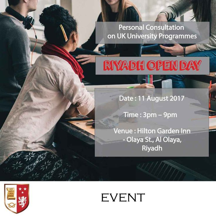 | Riyadh Open Day - Personal Consultation on UK University Programmes |  Earn a degree while working! To find out more, follow the link and register for our Open Day in Riyadh this 11th July, 2017. See you there!  | http://blog.staffordglobal.org/events/uk-university-distance-learning-programmes-riyadh |    #BA #MSc #DBA #Education #Health #onlinelearning #distancelearning #openday #KSA #Riyadh #uk #university #highereducation #middleeast