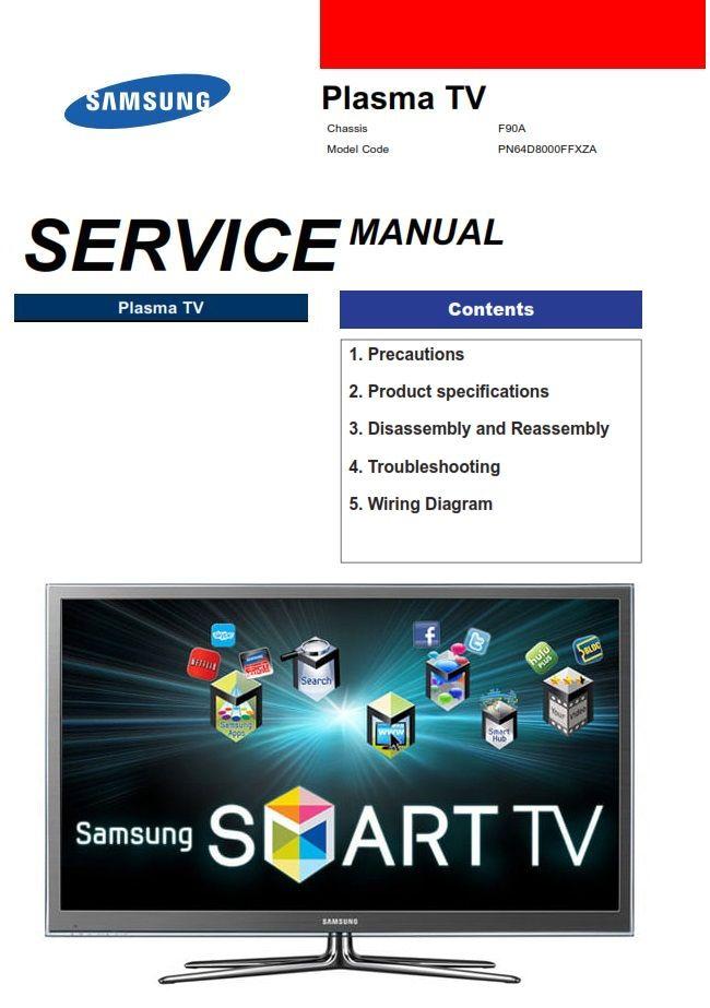 Samsung Pn64d8000 Pn64d8000ff Pn64d8000ffxza Service Manual Samsung Samsung Smart Tv Repair Guide