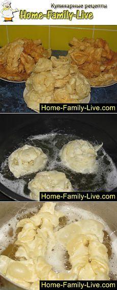 Хворост на водке - Кулинарные рецепты | Кулинарные рецепты