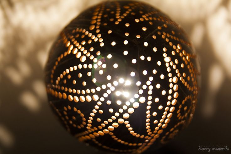 Naturally Artistic Lighting Handmade nightlight from coconut