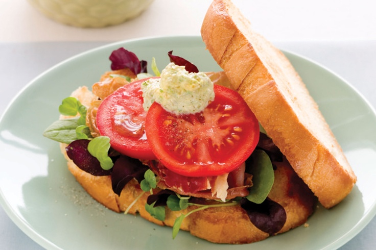 This BLT is taken to gourmet status with prosciutto, capers and vine tomatoes.