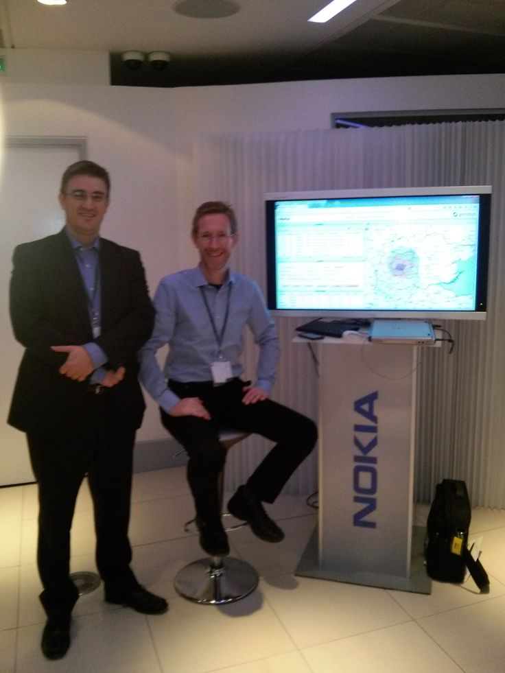 With my mate Lewis, showing our National Emergency Alert System at #Nokia event for @Vodafone in Newbury. November 014