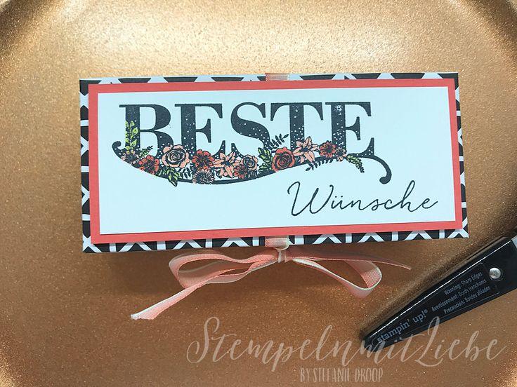 Stampin Up - Verpackung - Goodie - Box - Stempelset Beste Wünsche - Sale-a-Bration - Calypso - Designerpapier Blütenfantasie - Geburtstag - Birthday ♥ StempelnmitLiebe