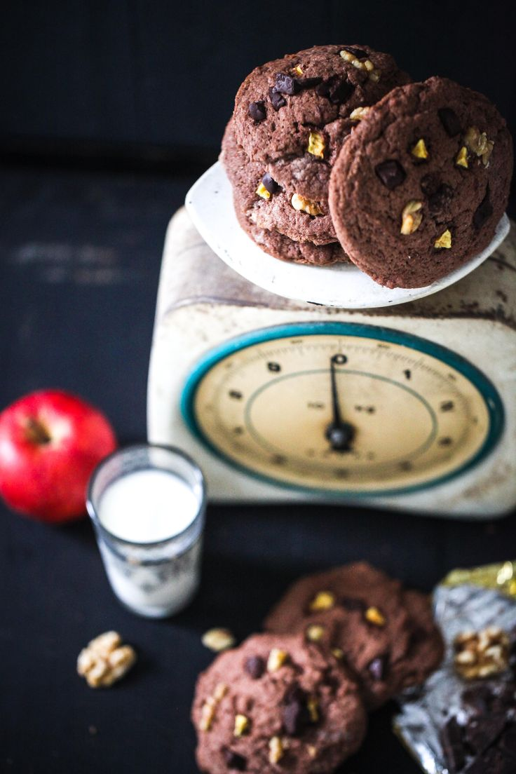 Zuckerzimtundliebe Backrezept Apfel-Kakaokekse mit Walnuss und Schokoladenstücken Apple Chocolate Cookie recipe
