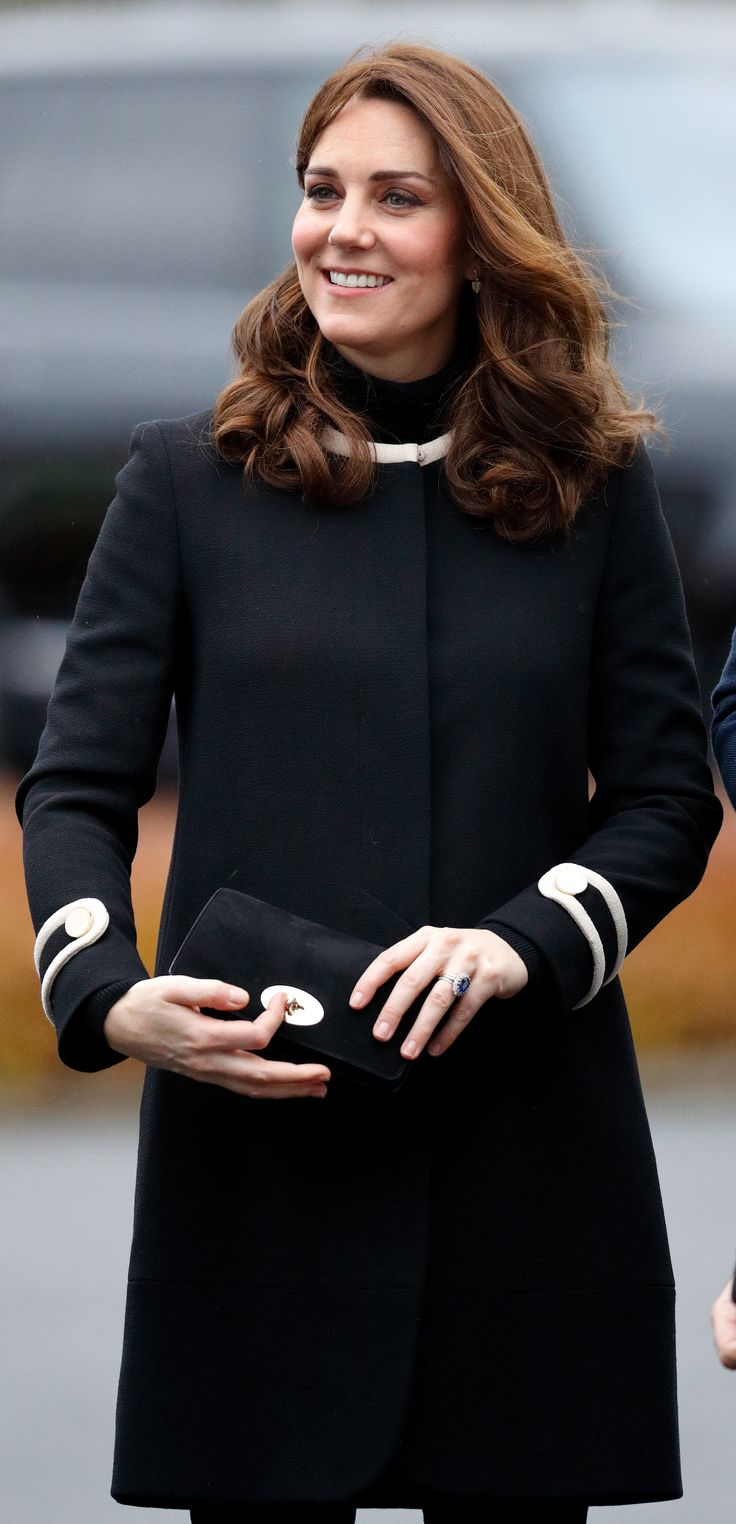 BIRMINGHAM, UNITED KINGDOM - NOVEMBER 22: (EMBARGOED FOR PUBLICATION IN UK NEWSPAPERS UNTIL 24 HOURS AFTER CREATE DATE AND TIME) Catherine, Duchess of Cambridge visits Jaguar Land Rover's Solihull manufacturing plant on November 22, 2017 in Birmingham, England. (Photo by Max Mumby/Indigo/Getty Images) via @AOL_Lifestyle Read more: https://www.aol.com/article/lifestyle/2017/12/07/the-one-rule-kate-middleton-must-follow-at-meghan-and-harrys-wedding/23300278/?a_dgi=aolshare_pinterest#fullscreen