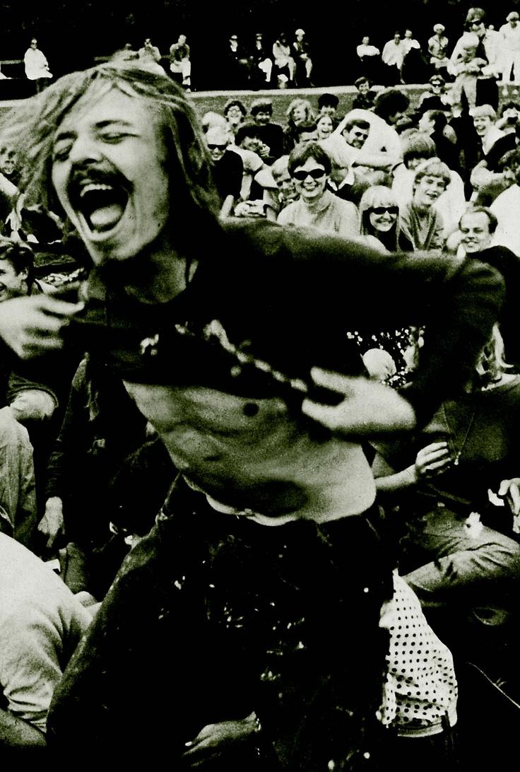 Dansende Provo-Knud til Love-in i Fælledparken under Summer of Love i 1967.