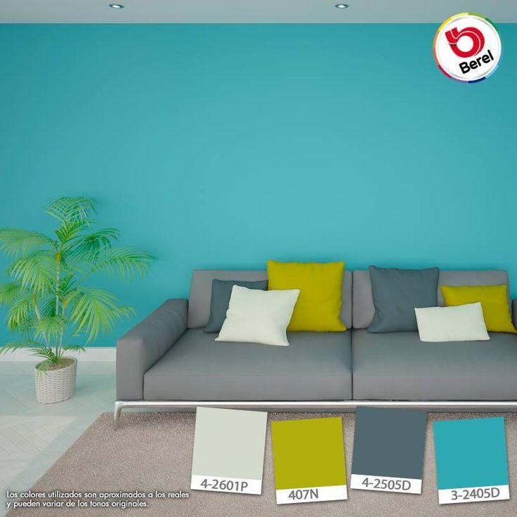 Las tonalidades azules transmiten confianza y tranquilidad. ¿En dónde lo aplicarías? #ColoresConfiables #hogar #decoracion #color