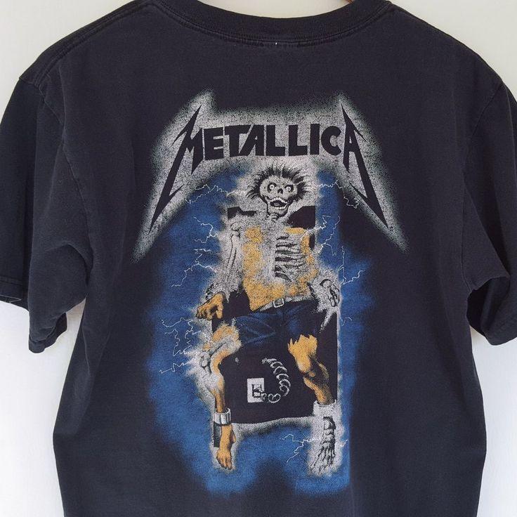 VTG 1994 Metallica Ride The Lightning T Shirt Medium Rock Metal Tee 90s Concert  #Giant #GraphicTee