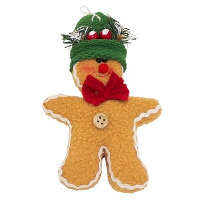"""6 RON - Turta dulce de plus -     Un ornament dulce, dulce pentru pomul de Craciun.  Turta dulce de plus are o fundita rosie si o caciulita verde foarte simpatica. Toti invitatii vor dori sa manace acest ornament """"delicios""""."""