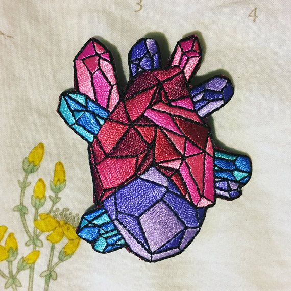 Hey, I found this really awesome Etsy listing at https://www.etsy.com/listing/264884434/geo-heart-embroidered-patch