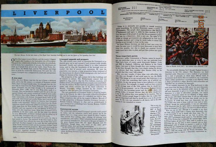 Knowledge Magazine NO154 Switzerland Economy THE Bovidae Aristides 1965 | eBay