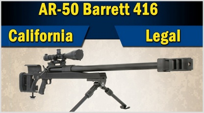 Cali-legal AR-50A1: ArmaLite is adding a new California-legal variant of their hard-hitting AR-50A1 to their line-up, and introducing a brand new rifle called the AR-30A1 in two models and calibers. The new AR-50A1 is chambered in .416 Barrett, a cartridge descended from the .50 BMG. It exchanges some power at the muzzle for superior ballistics, and retains more energy at greater distances than .50 BMG. Capable of producing over 9,000 foot-pounds of force at the muzzle. Call it watered-down?