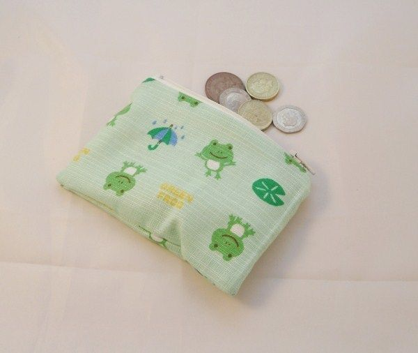 Green Frog Fabric Coin Purse - Free P&P £5.00
