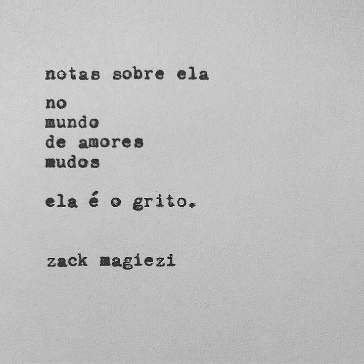 """""""É muita intensidade  #notassobreela  #zackmagiezi"""""""