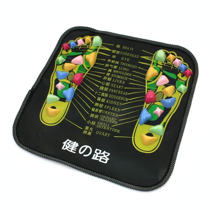 Terbaik Sale Berwarna Plastik Berjalan Batu Persegi Kaki Sehat Pijat Tikar Pad Bantal