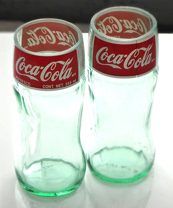 Recycled Coca-Cola bottle drinking glass