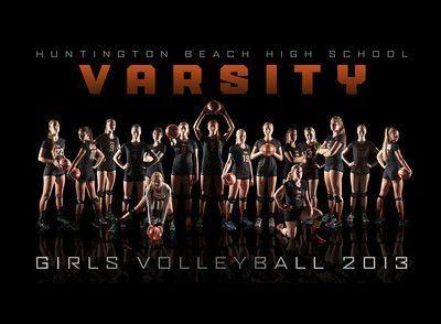 2013 Girls Varsity Volleyball Team Composite